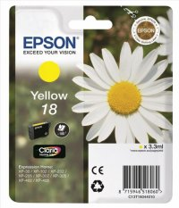 Cartus cerneala  Original Epson Yellow T18044010 INK 18 compatibil  XP102/202/205/30/302/305/402/405, 180 pag  (C13T18044010)