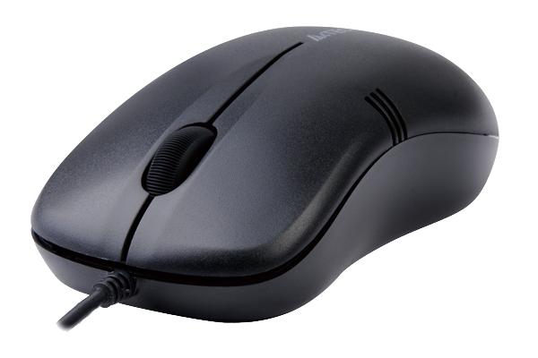 Mouse Optic USB A4TECH V-Track (OP-560NU-1), Black, wired cu 3 butoane si 1 rotita scroll, rezolutie 1000dpi