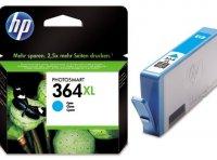 Cartus cerneala Original HP Cyan 364XL w.Vivera ink, compatibil PhotoSmart 7510/C5380/6380/D5460/7560 (CB323EE)