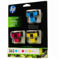 Cartus cerneala Original HP Tri-color 363 3-pack w.Vivera ink, compatibil PhotoSmart C5180/6180/6250/6280/7180/D6160/7160/7360 (CB333EE)