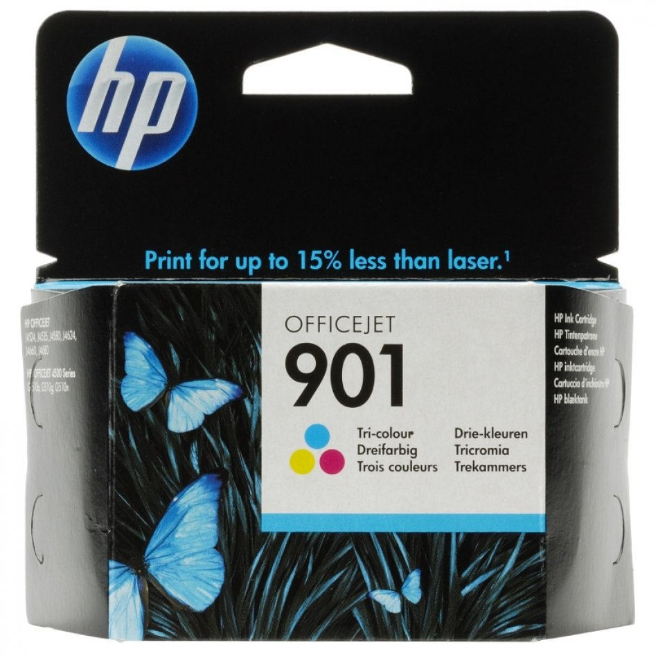 Cartus cerneala Original HP Tri-color 901, compatibil OfficeJet 4500/J4524/4580/4624/4640/4660/4680, 360pag (CC656AE)