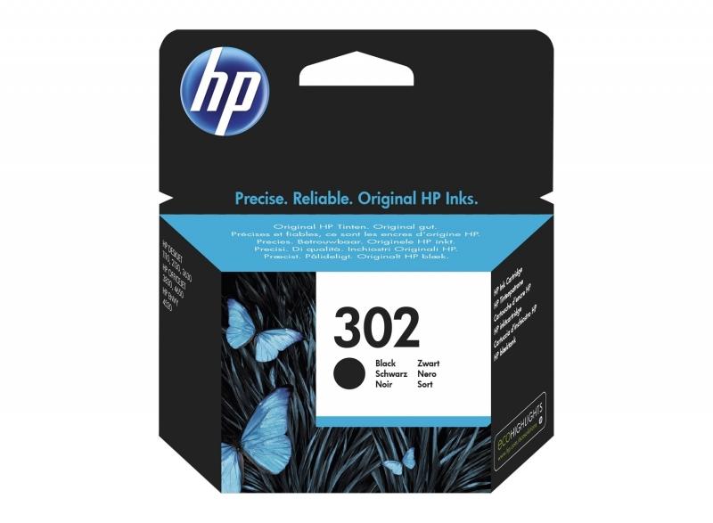 Cartus cerneala Original HP F6U66AE Black 302, compatibil DJ 2130 All-in-One, 190pag (F6U66AE)