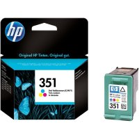 Cartus cerneala Original HP Tri-color 351 w.Vivera ink, compatibil DJ D4260/4360/J5730/5780/6480/PS C4205/4272/4280/4480/5280, 3.5ml (CB337EE)