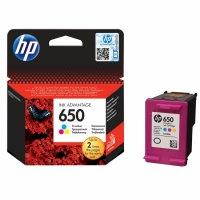 Cartus cerneala Original HP Tri-color 650, compatibil DJ2515/3515, 5ml (CZ102AE)