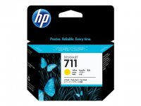 Cartus cerneala Original HP Yellow 711 3-pack, compatibil DesignJet T120/T520, 3x29ml (CZ136A)