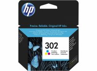 Cartus cerneala Original HP F6U65AE Tricolor 302, compatibil DJ 2130 All-in-One, 165pag (F6U65AE)