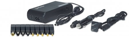 Alimentator notebook, 100 W, 15-24 V, USB, 9 DC plug tips, incl. car adapter, Black, Retail Bo (101615)