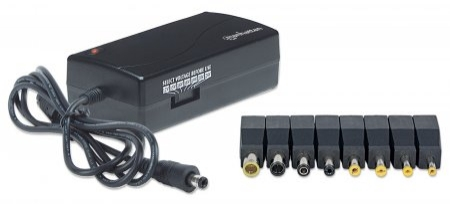 Alimentator notebook, 70 W, 12-24 V, 10 DC plug tips, Black, Retail Box (100854)