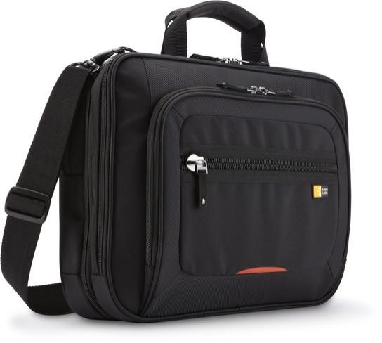 Geanta laptop 14' Case Logic, buzunar tableta, black/red (ZLCS214)