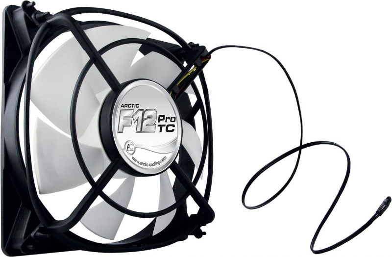 FAN FOR CASE ARCTIC. 'F12 Pro TC' 120x120x25 mm, senzor temperatura, low noise FD bearing (AFACO-12PT0-GBA01)
