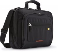 Geanta laptop 14' Case Logic, buzunar tableta, black/red (ZLCS214)