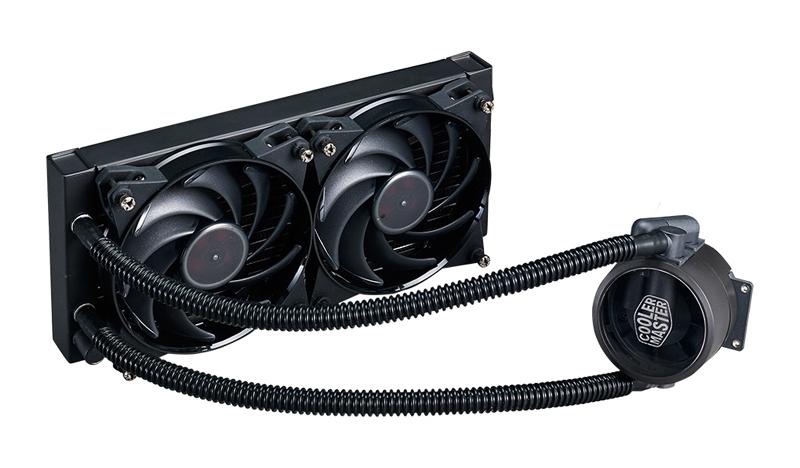 COOLER CPU LICHID COOLER MASTER MasterLiquid Pro 240, universal, soc. LGA 2011-3/2011/1366/115x/775/FMx/AMx, radiator 275x118.5x27 mm, 2x MasterFan PRO 120 Air Balance (MLY-D24M-A20MB-R1)