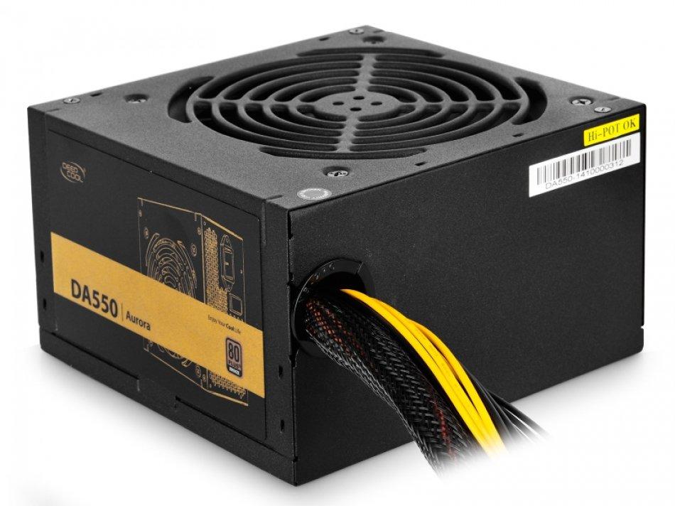 SURSA DEEPCOOL, 550W (real), fan 120mm PWM, 80 Plus Bronze, 85% eficienta, 2x PCI-E (6+2), 5x S-ATA (DA550)