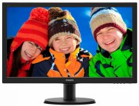 MONITOR PHILIPS 23.6' LED, 1920x1080, 8ms, 250cd/mp, vga+dvi (243V5QHSBA/00)