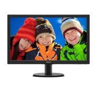 MONITOR PHILIPS 23.6' LED, 1920x1080, 8ms, 250cd/mp, vga+dvi, boxe (243V5QHABA/00)