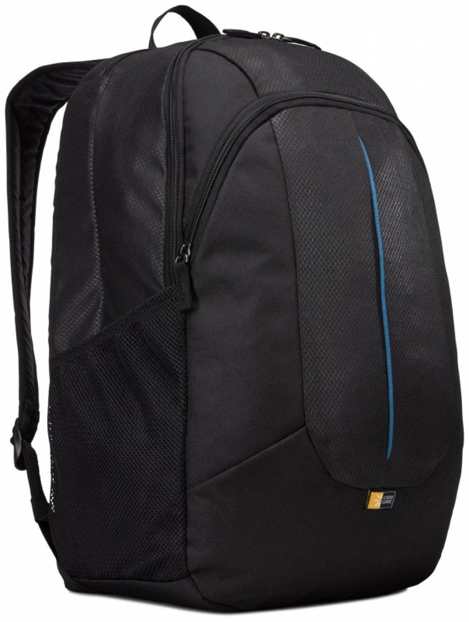 Rucsac laptop 17.3' Case Logic, buzunar frontal, nylon, black (PREV217BLK/MID)