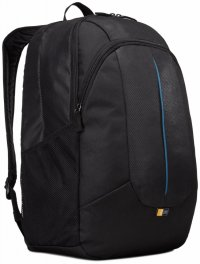 Rucsac laptop 17.3' Case Logic, buzunar frontal, nylon, black (PREV217BLK/MID)