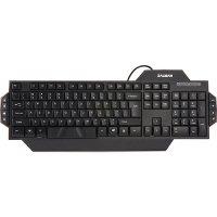 Tastatura Zalman ZM-K350M, cu fir, USB, 8 taste multimedia, taste numerice, material ABS, negru