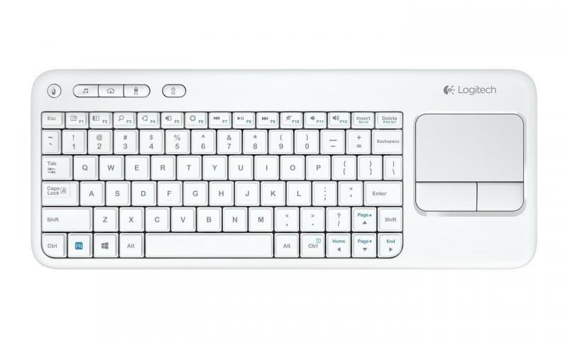 TASTATURA LOGITECH K400 Plus - INTNL - US International layout - alb (920-007146)