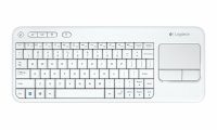 TASTATURA LOGITECH K400 Plus - INTNL - US International layout - alb (920-007146)