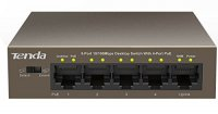 PoE Switch  5 Porturi 10/100M (4 porturi PoE), carcasa metal TENDA (TEF1105P)