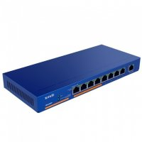 PoE (Power Over Ethernet) Switch  9 Porturi 10/100/1000M (8 port-uri PoE), carcasa metal TENDA (TEG1009P-EI)