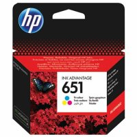 Cartus cerneala Original HP C2P11AE Tri-color 651, pentru DESKJET 5575 AIO