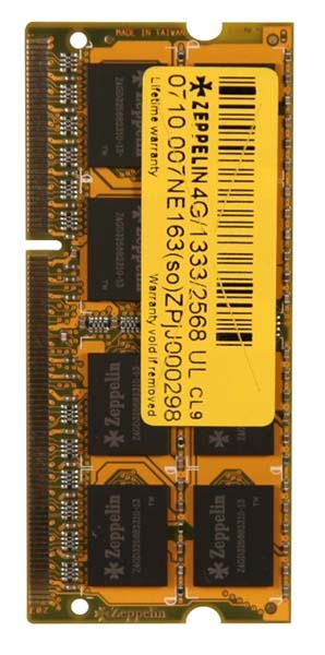 Zeppelin SODIMM 4GB DDR3 1333MHz Bulk (ZE-SD3-4G1333)
