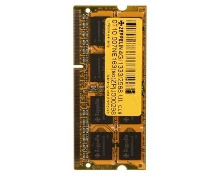 Zeppelin SODIMM 4GB DDR3 1600MHz (life time, dual channel) low voltage (ZE-SD3-4G1600V1.35)