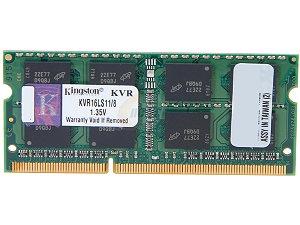 Kingston SODIMM 8GB DDR3 1600MHz, Low voltage 1.35V  (KVR16LS11/8)