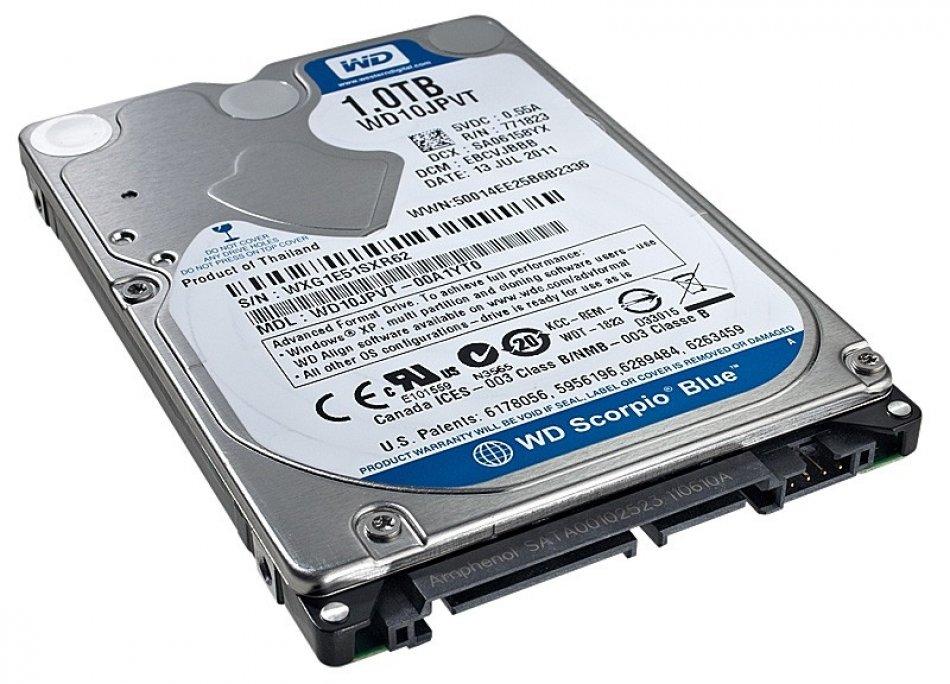 HDD Notebook WD Scorpio Blue 500GB 5400rpm 8MB SATA3 (WD5000LPVX)