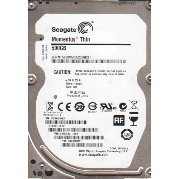 HDD  Notebook 2.5'  500GB 5400rpm 16M SATA2 SEAGATE  (ST500LT012)