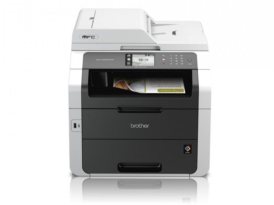 Brother MFC9340CDW, Multifunctional laser color A4 (print/copy/scan/fax), viteza printare: 22ppm mono/color, rezolutie: 2400 x 600 dpi, memorie: 256 MB, PCL6, BRScript3, tava 250 coli, duplex (print/scan/copy/fax), ADF 35 coli dual CIS, LCD TFT color tact