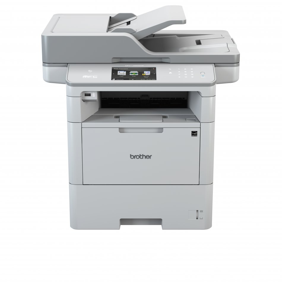Brother MFCL6800DW, Multifunctional laser mono A4 (print/copy/scan/fax), viteza imprimare: 46 ppm, viteza copiere: 46 ppm, viteza scanare: 50 ipm mono/20 ipm color, rezolutie imprimare: 1200 x 1200 dpi, rezolutie copiere: 1200 x 600 dpi, rezolutie scanare