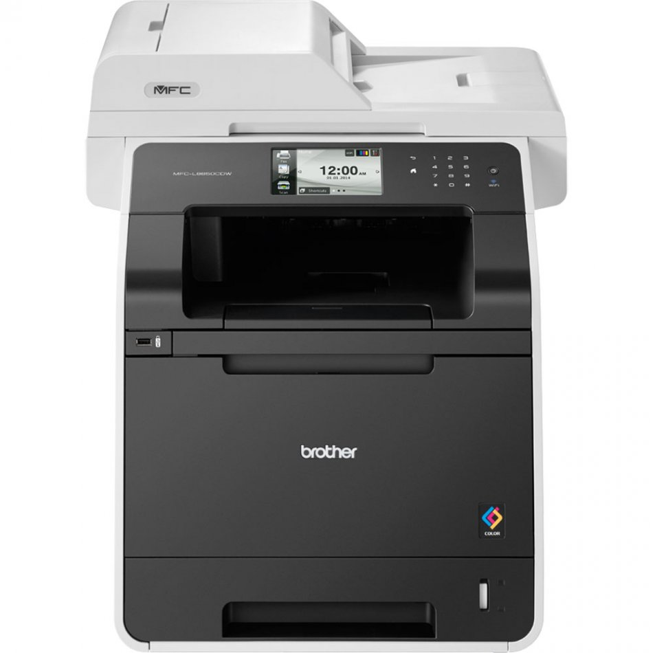 Brother MFCL8650CDW, Multifuncional laser color A4 (print/copy/scan/fax) , viteza printare: 28/28ppm, rezolutie: 2400x600 dpi, viteza copiere: 28 ppm, rezolutie copiere: 1200x600 dpi, ADF: 35coli, rezolutie scanner: 1200x2400 dpi, Fax 33,600 bps, memorie: