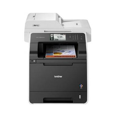 Brother MFCL8850CDW, Multifunctional laser color A4 (print,scan,copy,fax), viteza printare: 30ppm mono/color (14ppm duplex), rezolutie 2400x600 dpi, fpo 15 sec, 256 MB (max 512MB), limbaje PCL6, BR-Script 3 (PostScript), tavi 50+250 coli, duplex (print/sc