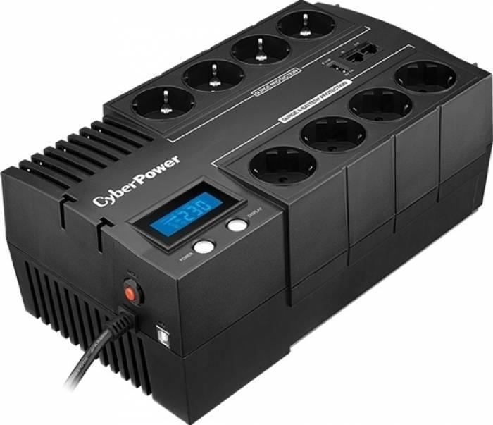 UPS  CYBER POWER Brick series II Green Power 600W (1000VA) Line Interactive, AVR, LCD, USB Charger Port (+5VDC), Schuko (BR1000ELCD)