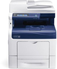 Xerox WorkCentre 6605N, Multifunctional laser color A4 (print/copy/scan to email/fax), viteza printare/copiere: 35ppm mono/35ppm color, rezolutie: 600x600x4dpi, fpo 9s mono/10s color, memorie 512MB (max 1GB), tavi hartie:150+550 coli (max 1250), iesire 25