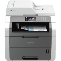 Brother DCP9020CDW, Multifunctional laser color A4 (print/copy/scan), viteza printare: 18ppm mono/color, rezolutie: 2400 x 600 dpi, memorie: 192 MB, PCL6, BRScript3, tava 250 coli, ADF 35 coli, LCD TFT color tactil 9,3cm, copiere independenta de calculato