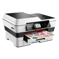 Brother MFCJ6920DW, Multifunctional inkjet  A3 (print/copy/scan/fax), viteza printare:22/20 ppm (mono/color, ISO), max 35/27 ppm (FastMode), rezolutie: 6000x1200 dpi, 256MB, borderless printing, media 64-220g/m2 (64-105g/m2 prin duplex), tavi 250+250 coli