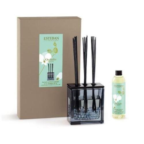 Buchet Parfumat Orhidee Alba cu Rezerva de 250ml - Esteban Paris