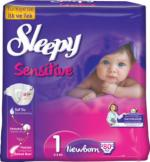 Sleepy Sensitive Jumbo Hipoalergic 1 New Born (0-3) 80 (5)