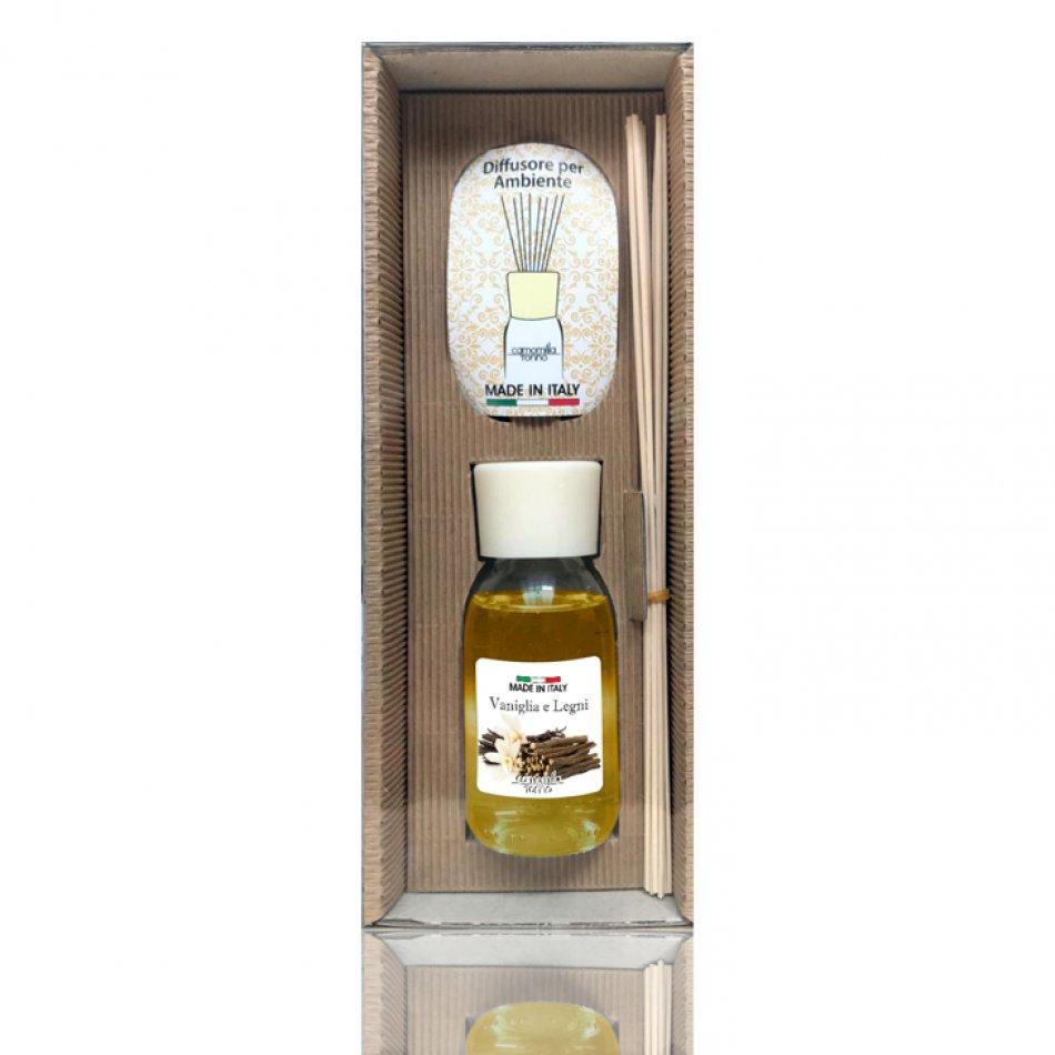 Parfum camera vanilla and woods