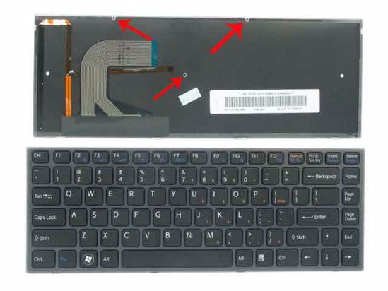 Tastatura Sony Vaio 148779111 9Z.N3TBQ.101 AEGD3U00120 (iluminata)