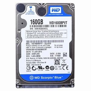 Hard disk laptop second hand 160 GB SATA 5400 RPM