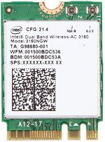 Modul Wi-fi Intel Dual Band AC 3160 - 3160NGW