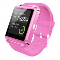 Ceas smartwatch  bluetooth U8-1.44 inch -roz