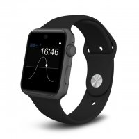 Ceas Smartwatch Aipker DM09-voice interaction,cartela SIM, 1,54 HD touchscreen-black