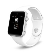 Ceas Smartwatch Aipker DM09-voice interaction,cartela SIM, 1,54 HD touchscreen-white