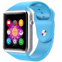Ceas smartwatch A1 PRO-cartela SIM,camera,TF card-1,54 HD touchscreen-albastru